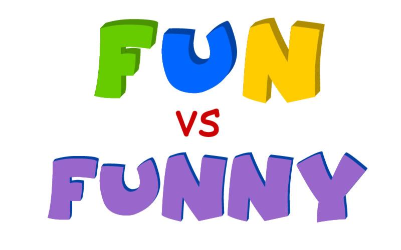 aprender ingles - fun vs funny